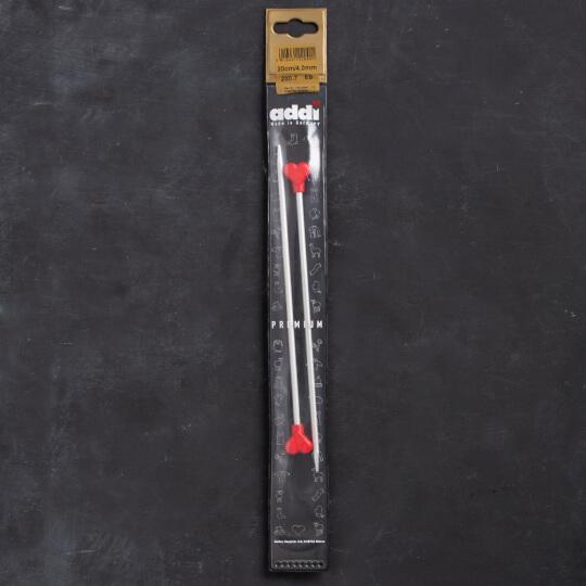 Addi Kalpli 4mm 20cm Klasik Alüminyum Örgü Şişi - 200-7