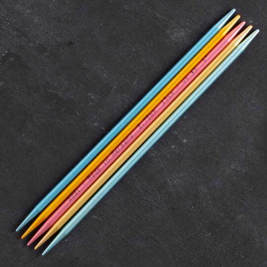 Addi Colibri 3,75mm 15cm Renkli Çorap Şişi - 204-7