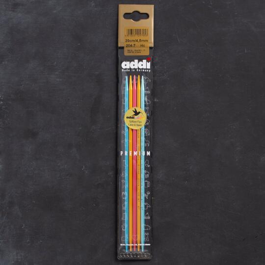 Addi Colibri 4,5mm 20cm Renkli Çorap Şişi - 204-7