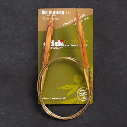 Addi Olive Wood 10 mm 100 cm Zeytin Ağacı Misinalı Örgü Şişi - 575-7