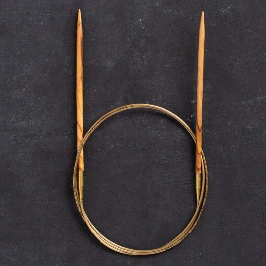 Addi Olive Wood 4 mm 100 cm Zeytin Ağacı Misinalı Örgü Şişi - 575-7