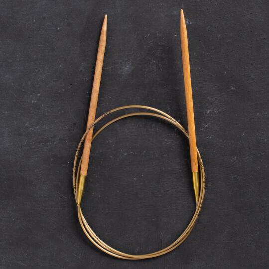Addi Olive Wood 4,5 mm 100 cm Zeytin Ağacı Misinalı Örgü Şişi - 575-7