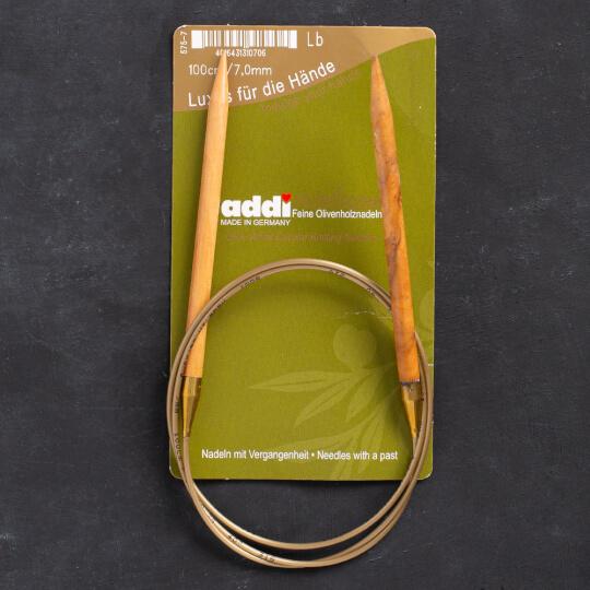 Addi Olive Wood 7 mm 100 cm Zeytin Ağacı Misinalı Örgü Şişi - 575-7
