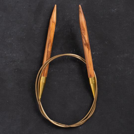Addi Olive Wood 9 mm 100 cm Zeytin Ağacı Misinalı Örgü Şişi - 575-7