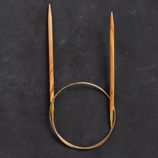 Addi Olive Wood 4,5 mm 60 cm Zeytin Ağacı Misinalı Örgü Şişi - 575-7