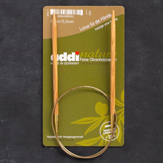 Addi Olive Wood 5 mm 60 cm Zeytin Ağacı Misinalı Örgü Şişi - 575-7