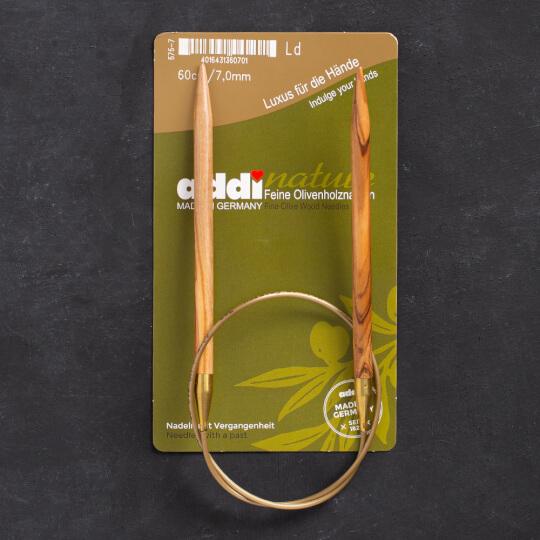 Addi Olive Wood 7 mm 60 cm Zeytin Ağacı Misinalı Örgü Şişi - 575-7
