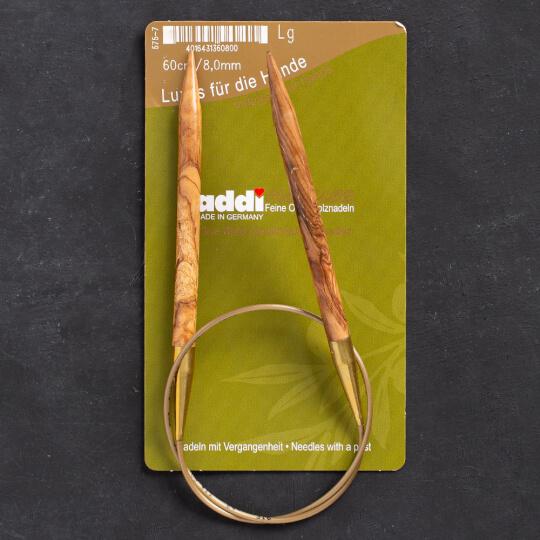 Addi Olive Wood 8 mm 60 cm Zeytin Ağacı Misinalı Örgü Şişi - 575-7