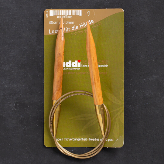 Addi Olive Wood 10 mm 80 cm Zeytin Ağacı Misinalı Örgü Şişi - 575-7