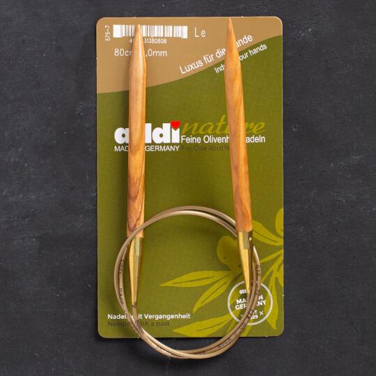 Addi Olive Wood 8 mm 80 cm Zeytin Ağacı Misinalı Örgü Şişi - 575-7