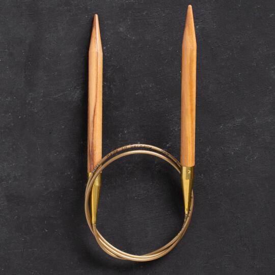 Addi Olive Wood 9 mm 80 cm Zeytin Ağacı Misinalı Örgü Şişi - 575-7