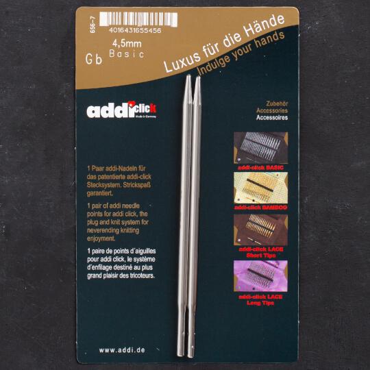 Addi Click Basic 4,5mm Misinalı Şiş Ucu - 656-2