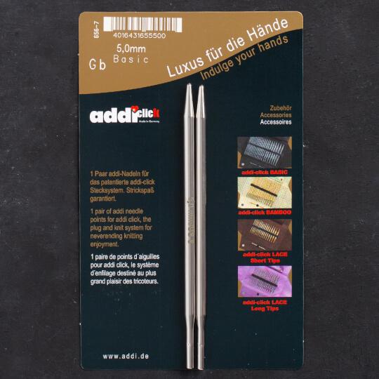 Addi Click Basic 5mm Misinalı Şiş Ucu - 656-2