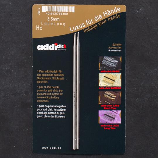 Addi Click Lace 3,5mm Değiştirilebilir Uzun Uçlu Dantel Şişi - 766-2
