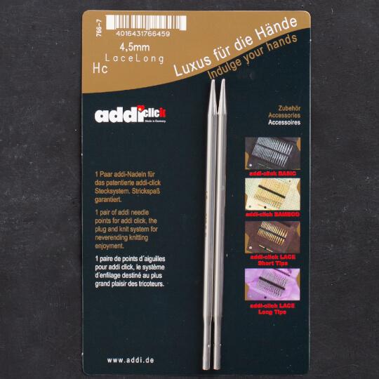 Addi Click Lace 4,5mm Değiştirilebilir Uzun Uçlu Dantel Şişi - 766-2