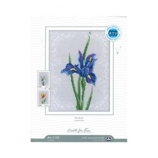 RTO Baltic 15 x 20 cm Mavi Süsen Çiçeği Desenli Etamin Kiti - C155