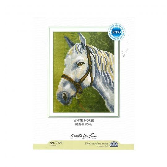 RTO Baltic 11 x 15 cm Beyaz At Desenli Etamin Kiti - C173