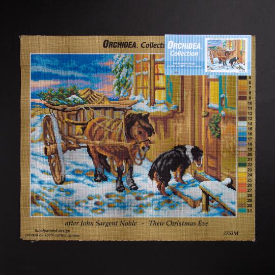 ORCHİDEA 40 x 50 cm  Noel Arifesi Baskılı Goblen 2753M