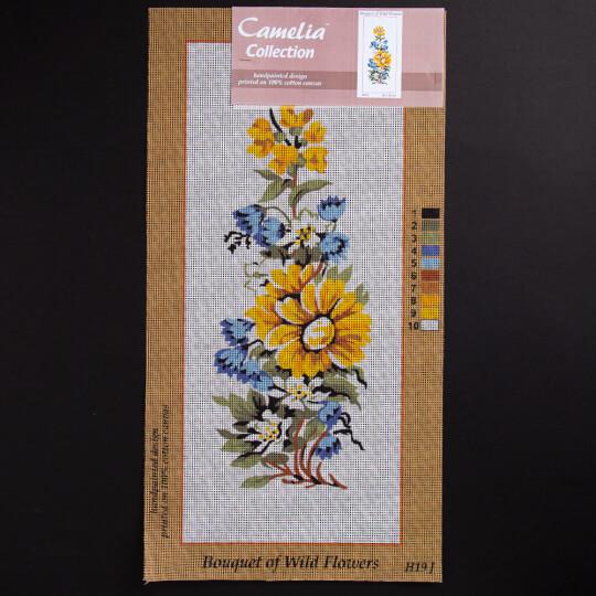 ORCHİDEA 20x50 cm Karışık Çiçekler Baskılı Goblen H19J