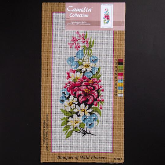 ORCHİDEA 20x50 cm Karışık Çiçekler Baskılı Goblen H20J