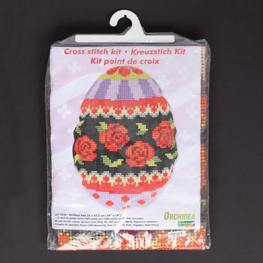 Orchidea 35x47,5 cm Gül Desenli Baskılı Goblen Yastık Kiti - 9325