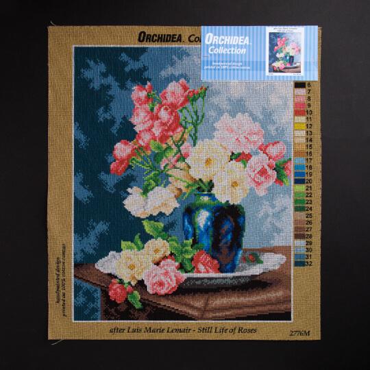 ORCHİDEA 40 x 50 cm  Güller Baskılı Goblen 2776M