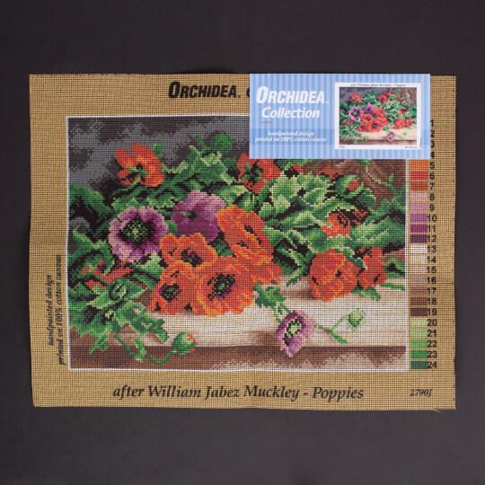 Orchidea 30x40cm William Jabez Muckley Baskılı Goblen - 2790J