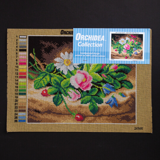 ORCHİDEA 24 x 30 cm Çiçek Baskılı Goblen 2834H