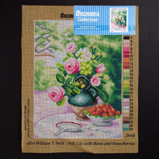 ORCHİDEA 30 x 40 cm Gül ve Çiçek Baskılı Goblen 2854J