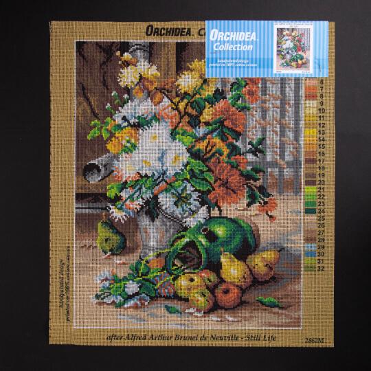 ORCHİDEA 40 x 50 cm  Meyve ve Çiçekler Baskılı Goblen 2862M