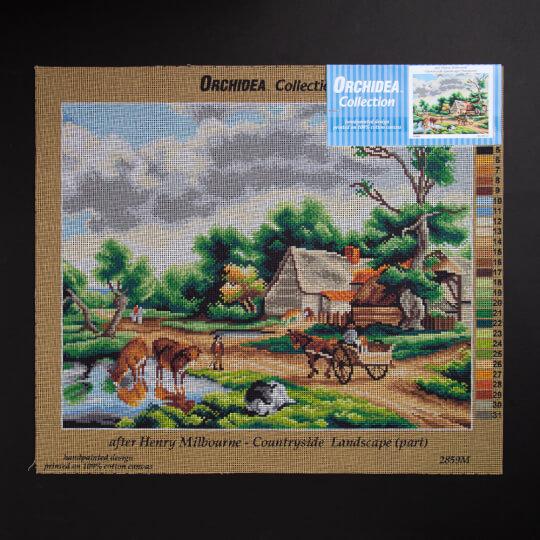 ORCHİDEA 40 x 50 cm  Çiftlik Evi Baskılı Goblen 2859M