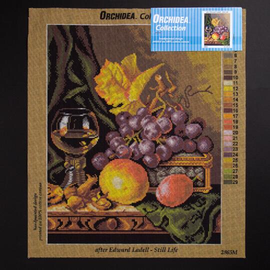 ORCHİDEA 40 x 50 cm  Masadaki Meyveler Baskılı goblen 2865M