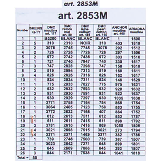ORCHİDEA 40 x 50 cm  Atlantic Baskılı Goblen 2853M