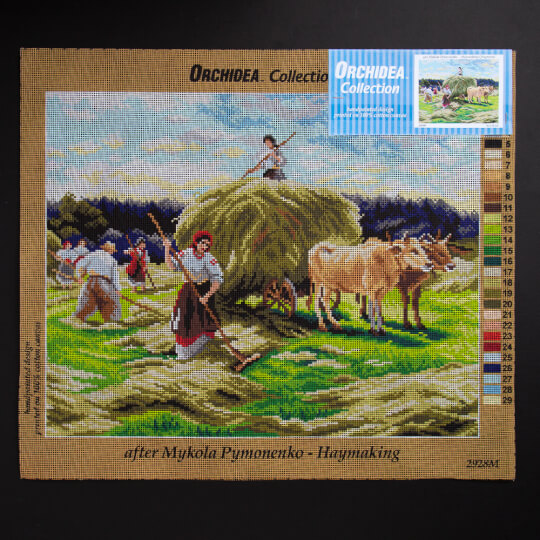 ORCHİDEA 40 x 50 cm Çalışan Çiftçiler Baskılı Goblen 2928M