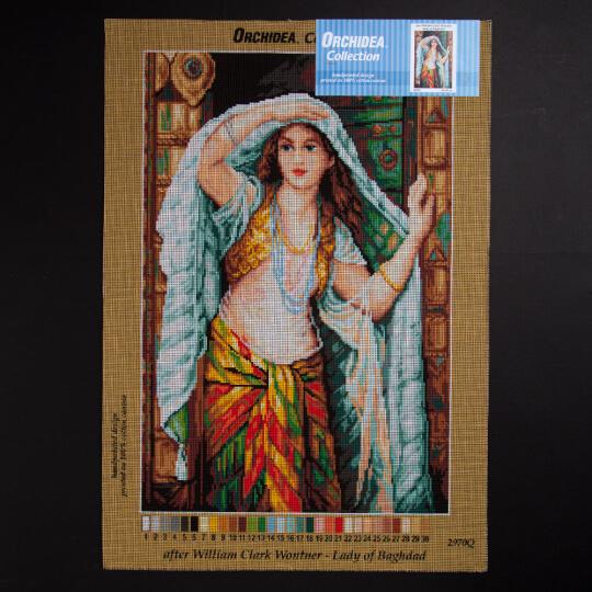 ORCHİDEA 40 x 60 cm Bağdat Hanımefendisi Baskılı Goblen 2970Q