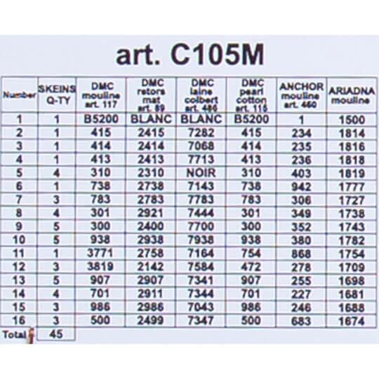 ORCHİDEA 40 x 50 cm At Çifti Baskılı Goblen C105M