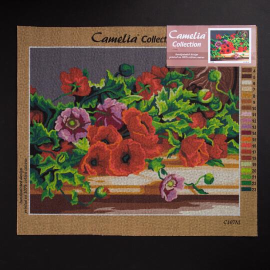 ORCHİDEA 40 x 50 cm Karışık  Çiçekler Baskılı Goblen C107M