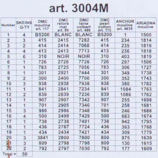 ORCHİDEA 40 x 50 cm Kartal Baskılı Goblen 3004M