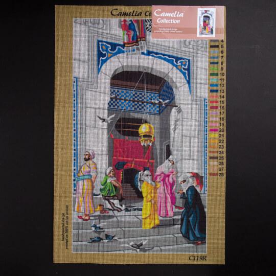 ORCHİDEA 40 x 70 cm Cariyeler Baskılı Goblen C119R