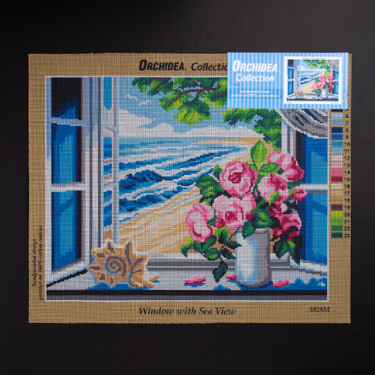 ORCHİDEA 40 x 50 cm Camdaki Güller Baskılı Goblen 3028M