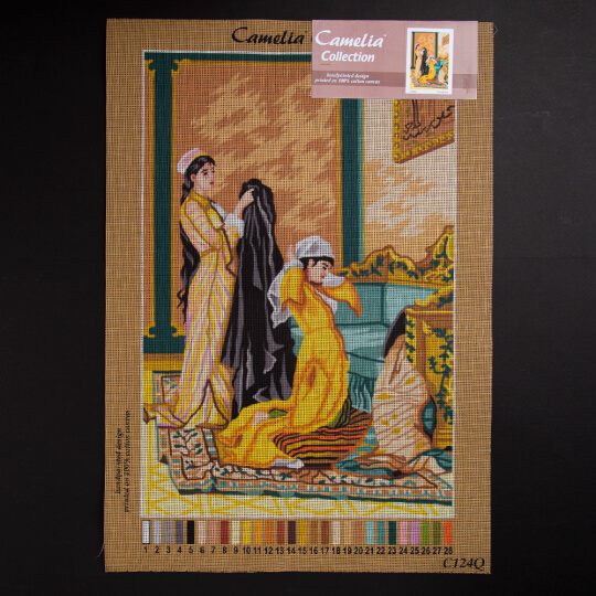 ORCHİDEA 40 x 60 cm Kadınlar Baskılı Goblen C124Q