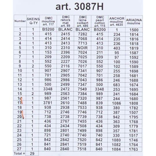 ORCHİDEA 24 x 30 cm Menekşe Kasası Baskılı Goblen 3087H
