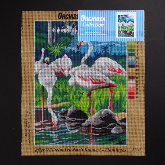 ORCHİDEA 30 x 40 cm Flamingolar Baskılı Goblen 3114J