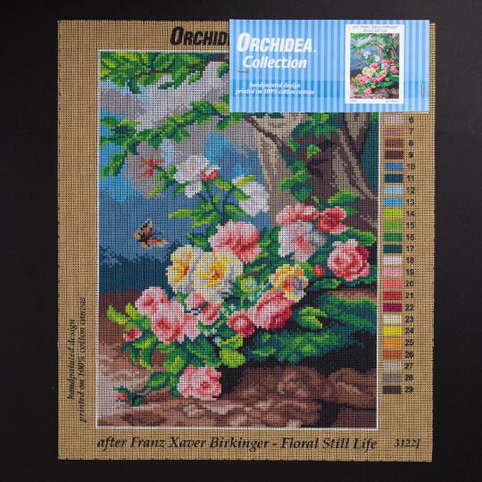 ORCHİDEA 30 x 40 cm Kır Çiçekleri Baskılı Goblen 3122J