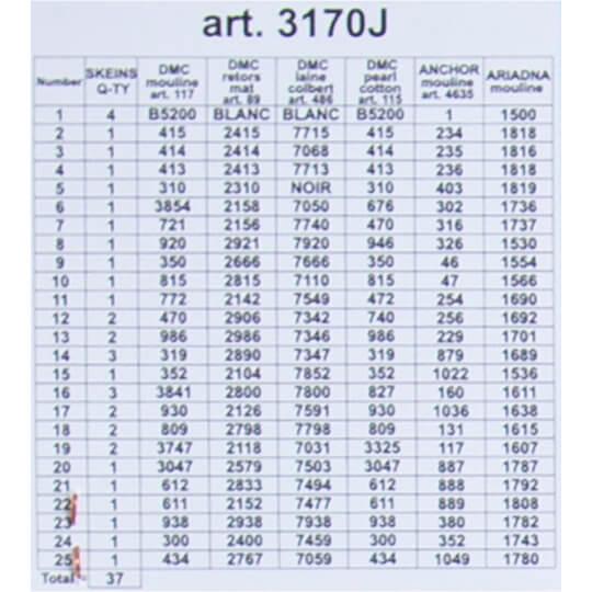 ORCHİDEA 30 x 40 cm Çifte Kumrular Baskılı Goblen 3170J