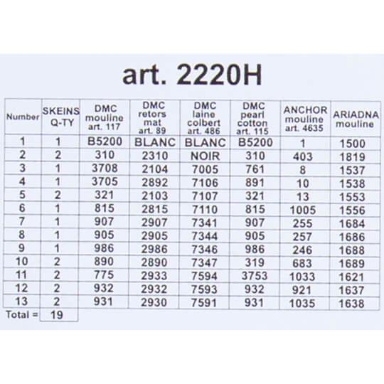 ORCHİDEA 24 x 30 cm Gül Demeti Baskılı Goblen 2220H