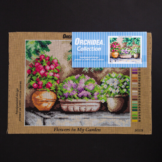 ORCHİDEA 24 x 30 cm Bahçedeki Çiçekler Baskılı Goblen 2411H