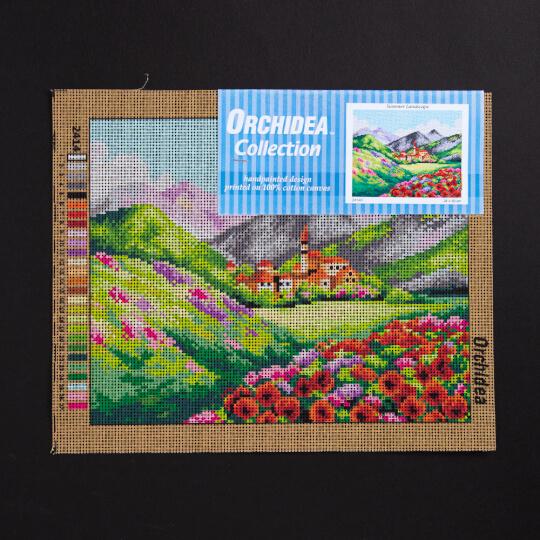 ORCHİDEA 24 x 30 cm Dağda Yaz Baskılı Goblen 2414H