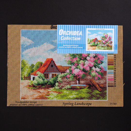ORCHİDEA 24 x 30 cm Pembe Ağaçlı Baskılı Goblen 2173H