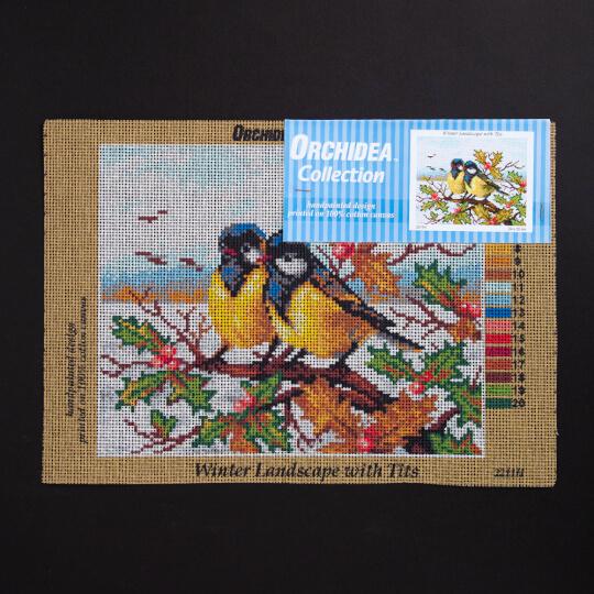ORCHİDEA 24 x 30 cm Sevgiili Kuşlar Baskılı Goblen 2211H